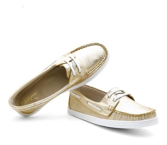 Sapato Sapatilha Mocassim Rasteira Dockside Feninino - 22000