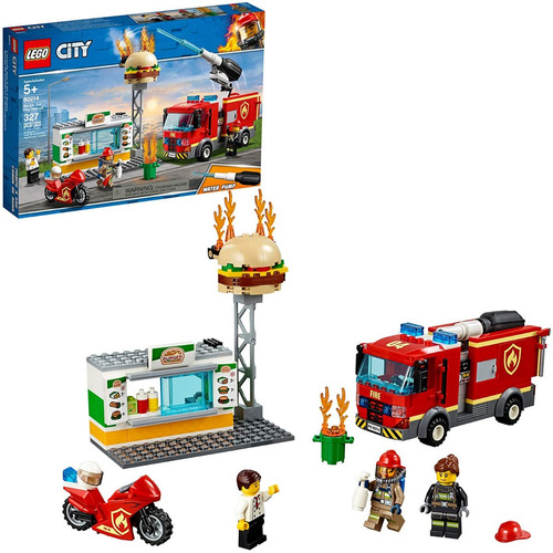 Lego City 60214 Bombero Burger Bar Fire Rescue   Original