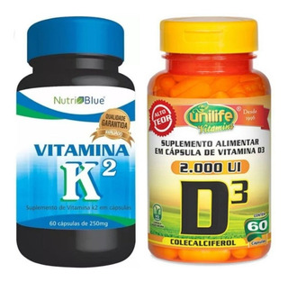 Vitamina K2 Mk7 + Vitamina D3 Kit 120 Cápsulas (2 Meses)