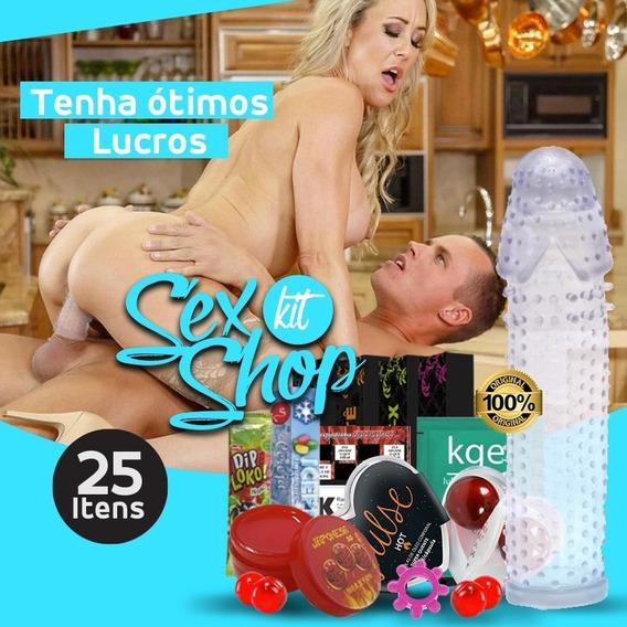 Kit Sexy Shop 25 Capa Peniana Lubrificante Aumenta Penis