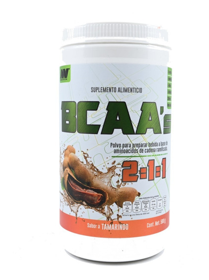Bcaa 2:1:1 Advance Nutrition 500 Gramos 100 Porciones
