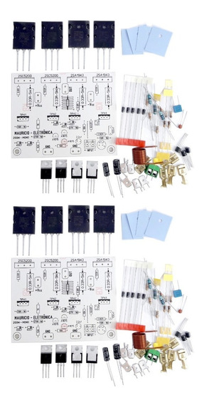 2 Kits Placa + Componentes Para Montar Amplificador 200w Rms