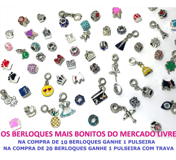 Kit 5 Berloques Pulseira Bracelete