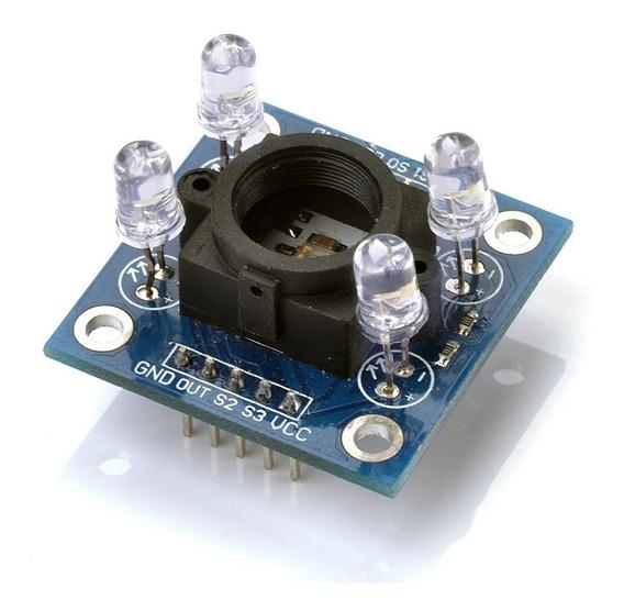 Módulo Sensor De Cor Tcs3200 E Reconhecimento Tcs230 Arduino