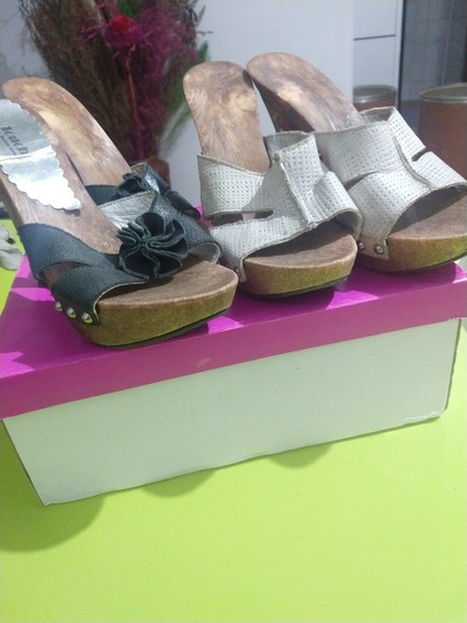 Zapatos Mujer Negro Y Blanco 2x1 Talle 38