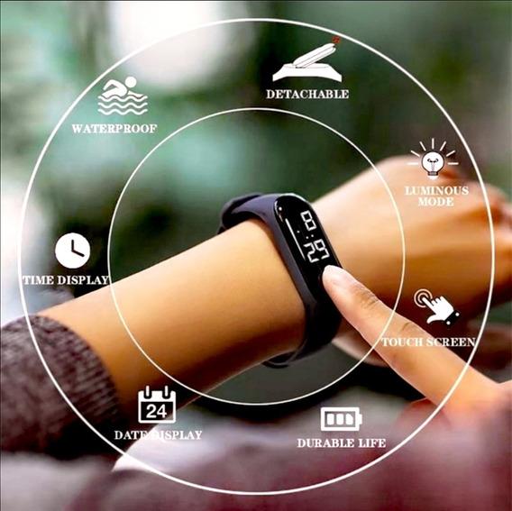 Reloj Digital Led Touch Screen Resistente Al Agua