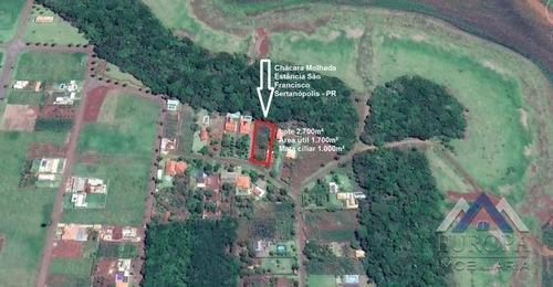 Chácara À Venda, 1700 M² Por R$ 195.000,00 - Rural - Sertanópolis/pr - Ch0117