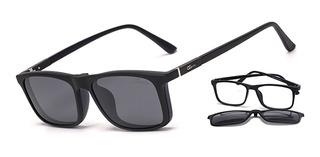 Armação Óculos Grau E Solar Clip On Ogrife 940-c Proteção Uv