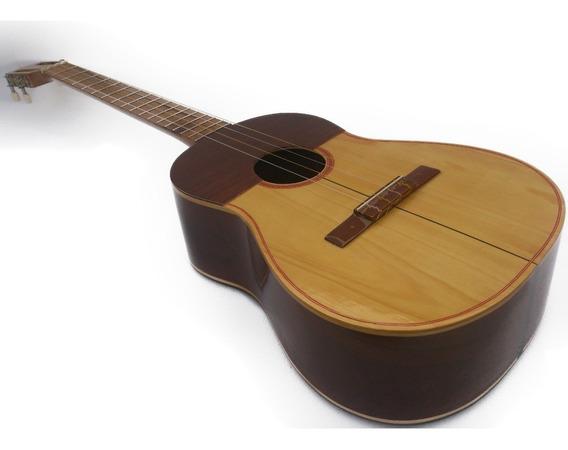 Instrumento Musical Cuatro Profesional Color Caoba De Cedro