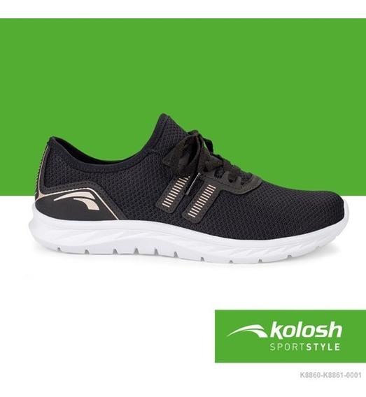Tênis Kolosh Feminino K8861 Sport Style Sapato Dakota Pronta Entrega Cadarço Rpt