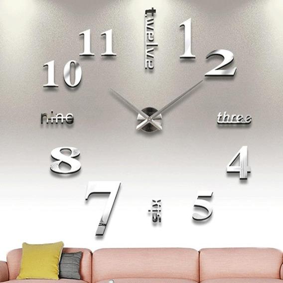 Reloj De Pared 3d Moda Único Decorativo Diy Moderno 45*45cm