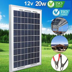 Painel Placa Célula Energia Solar Fotovoltaica 12v 20w Watts