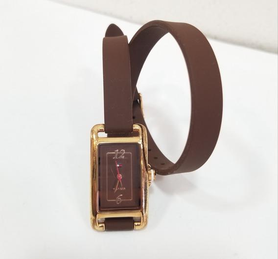 Relógio Tommy Hilfiger Feminino Marrom Dourado Excelente Est