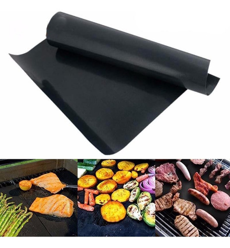 Manta Grill Para Churrasco Chapa Grelha Antiaderente 40x33cm