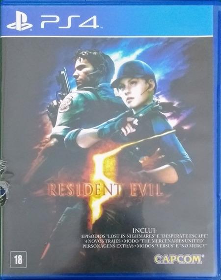 Resident Evil 5 Ps4 Mídia Física Seminovo
