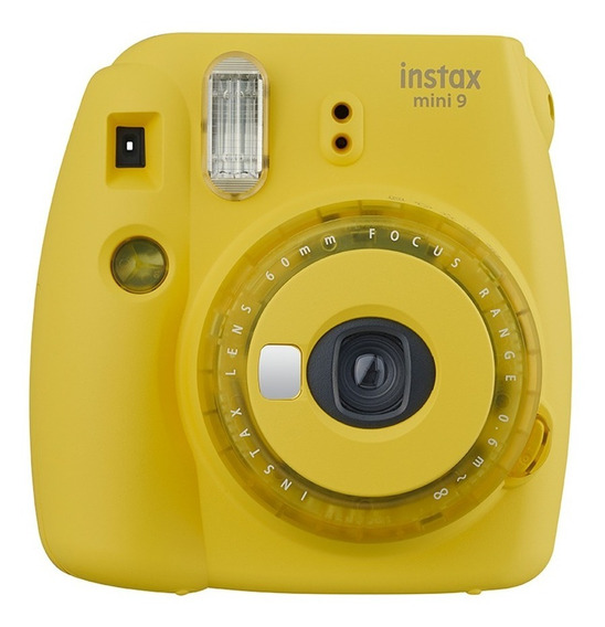 Câmera Instantânea Instax Mini 9 Amarelo Banana C/ 3 Filtros