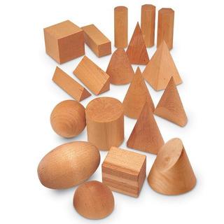 Recursos Para El Aprendizaje Madera Sólidos Geométricos Conj