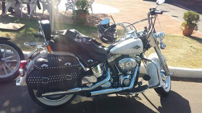 Harley Davidson Softail Heritage Classic 2015 Branco.
