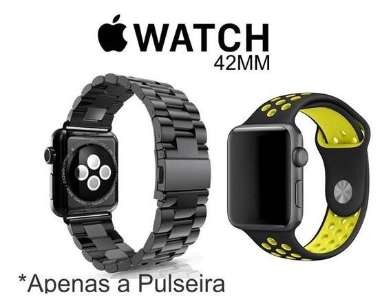 2 Pulseira Para Relógio Apple Watch 42mm 1 Aço Inox + 1 Nike