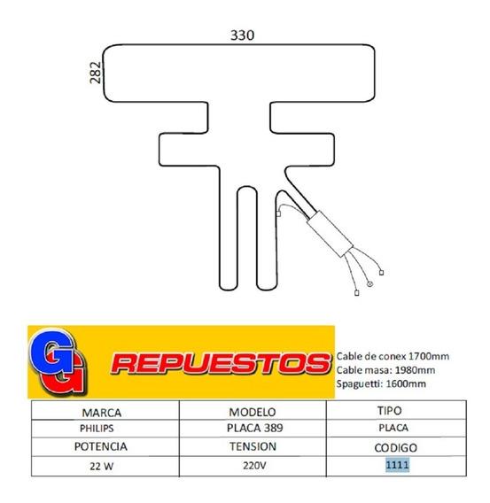 Resistencia De Aluminio De Heladera Philips Placa 389 1111 2