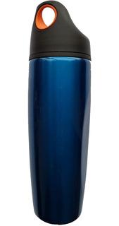 Squeeze Azul Aço Acte Sports C17 Válvula De Segurança 900ml