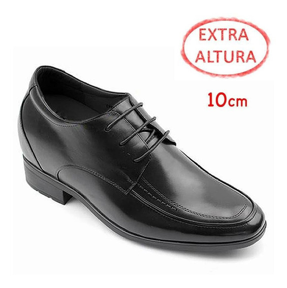 Francesco Negro 10 Cm De Altura. Zapato Vestir Para Hombre