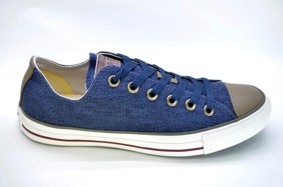 Converse Lino Azul 157078c Linen Navy Nuevas Moda