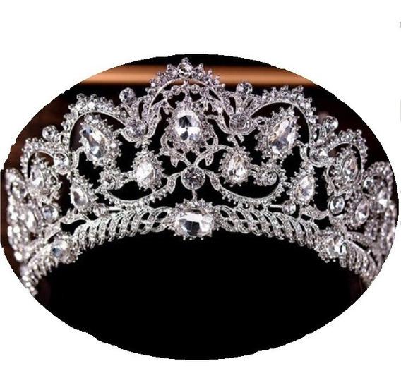 Coroa Tiara Noiva Debutantes Casamento Linda Dourada 013
