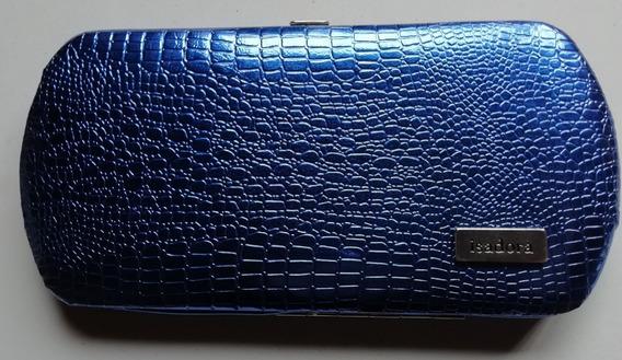 Billetera Isadora Azul Plateada