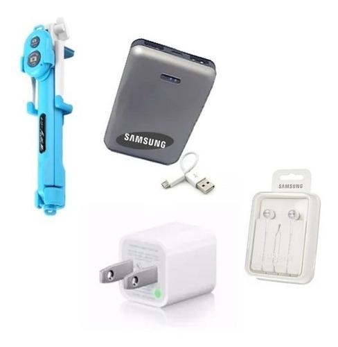 Kit Samsung Power Bank 8800 Manos Libre Cargador Monopod Usb