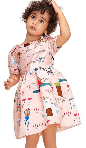 Vestido De Verano De Las Niñas De Colores De Dibujos Animado