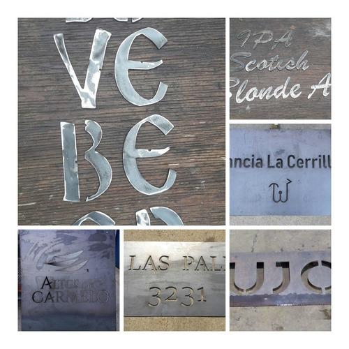 Numeros De Puerta,logos,letras Caladas En Chapa