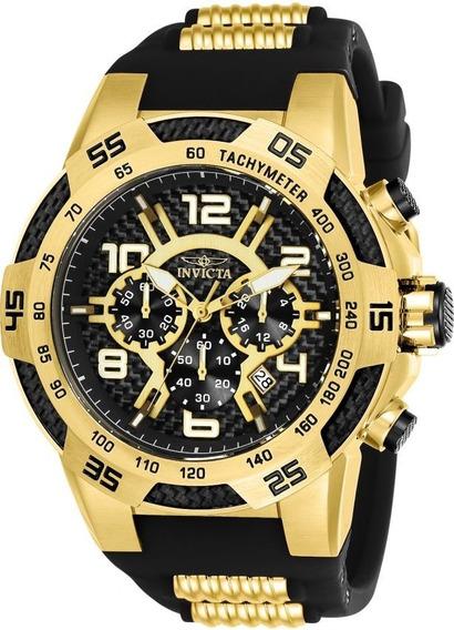 Relógio Invicta 24233 Dourado B Ouro 18k * Speedway