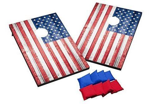 Imagen 1 de 4 de Salvaje Deportes Ee.uu. Bandera Cornhole Juego De Exterior C