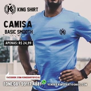 Kit 05 Camisas 100% Algodão Bordado No Peito.