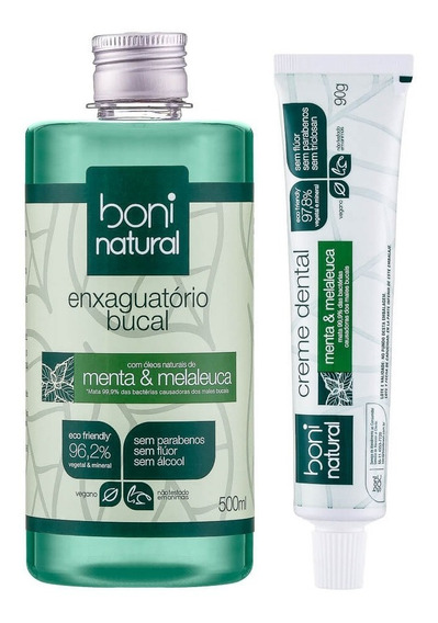 Kit Natural Para Higiene Bucal Boni Natural