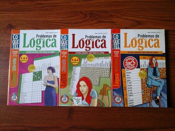 3 Almanaques Coquetel Problemas De Logica - 480 Paginas