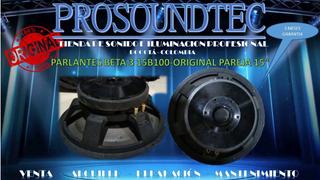 Parlantes Beta 3 15b100-original Pareja 15 / Prosoundtec