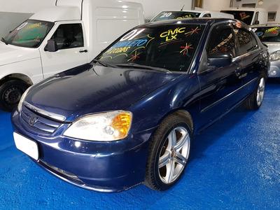 Honda Civic Lx 1.7 2001, Manual Muito Economico