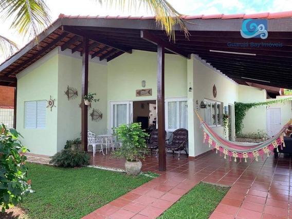 Jardim Albamar Casa Com 4 Dormitórios À Venda, 300 M² - Praia De Pernambuco - Guarujá - Ca1790