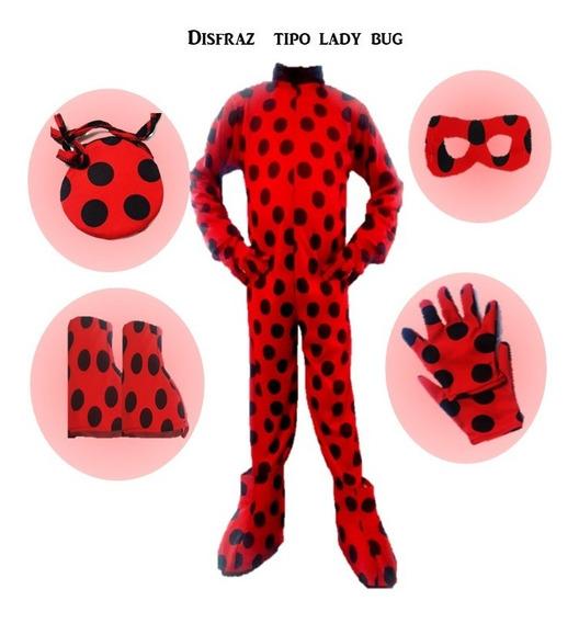 Disfras Tipo Lady Bug Niña Completo