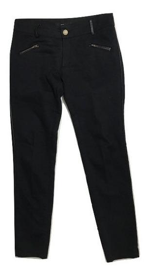 Pantalon Negro De Vestir Talle M Mujer Con Detalle