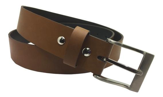 Cinturon Camel Cuero Recuperado Uniforme Traje