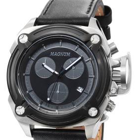 Relógio Magnum Multifunção Original Ma34496c Prateado + Nf-e