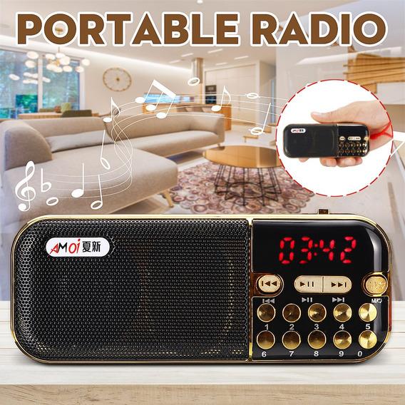 Lcd Digital Mini Rádio Fm /mp3 Receptor Seleção De Música Di