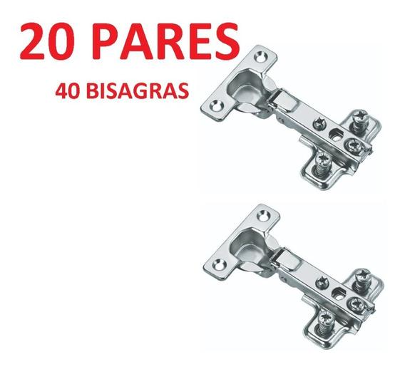 Bisagra Bidimensional 110° Cerrajes 20 Juegos (40 Piezas)