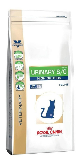 Ração Royal Canin Urinary S/O High Dilution UHD 34 Veterinary Diet Feline gato adulto mix 1.5kg
