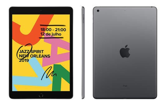 iPad Apple Cinza Espacial 10,2 Wi-fi Ipados A10 Fusion 32gb