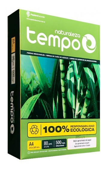 Resma A4 80grs Naturaleza Tempo Papelera Grafipel