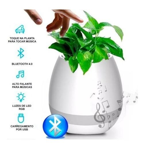 Caixa De Som Bluetooth Mp3 Player Led Vaso De Flores Sala Ar
